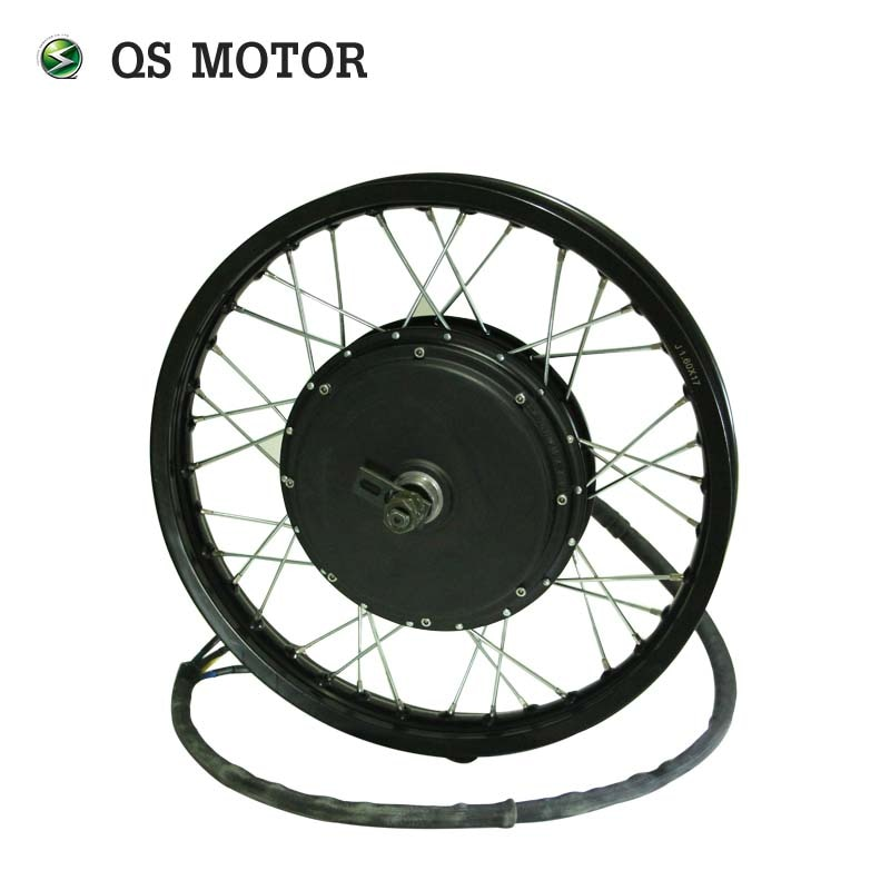 QS-محرك الدراجة عالي السرعة V3TI ، 3000W 205 (50H) ، 48-96V ، مع حافة عجلة الدراجة