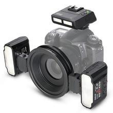 Meike MK-MT24 Macro Double Lite Flash pour Sony A7 A7R A7S A7II A7RII A5000 A5100 NEX6 NEX7 NEX3 NEX5 A6000 A6300 A6500 Caméras