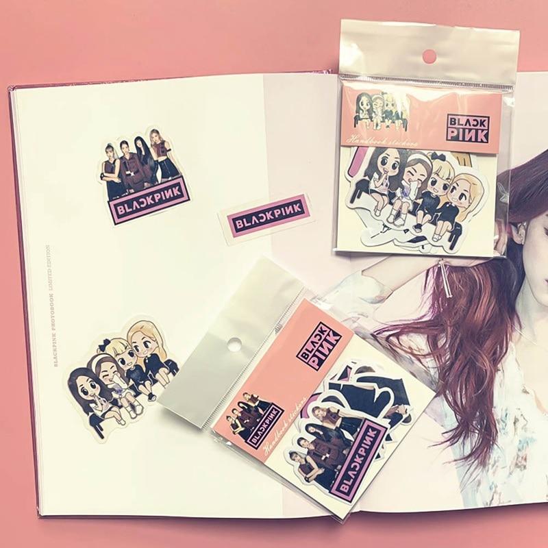 Pegatina de estrella Kpop BLACKPINK EXO GOT7 TWICE, pegatinas para álbum de recortes, diario, decoración, papelería, suministros escolares, regalos para seguidores