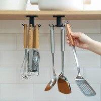 Кухонный крючок-органайзер, вешалка для ванной комнаты, настенная сушилка для посуды, держатель для крышки, кухонные аксессуары, Полка для ш...