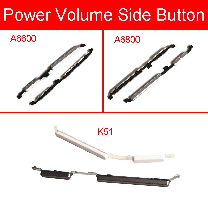 Botones laterales de volumen + encendido para Lenovo A6600 A6800 K51, interruptor de Control de volumen, teclado lateral, reemplazo de reparación de teléfono móvil