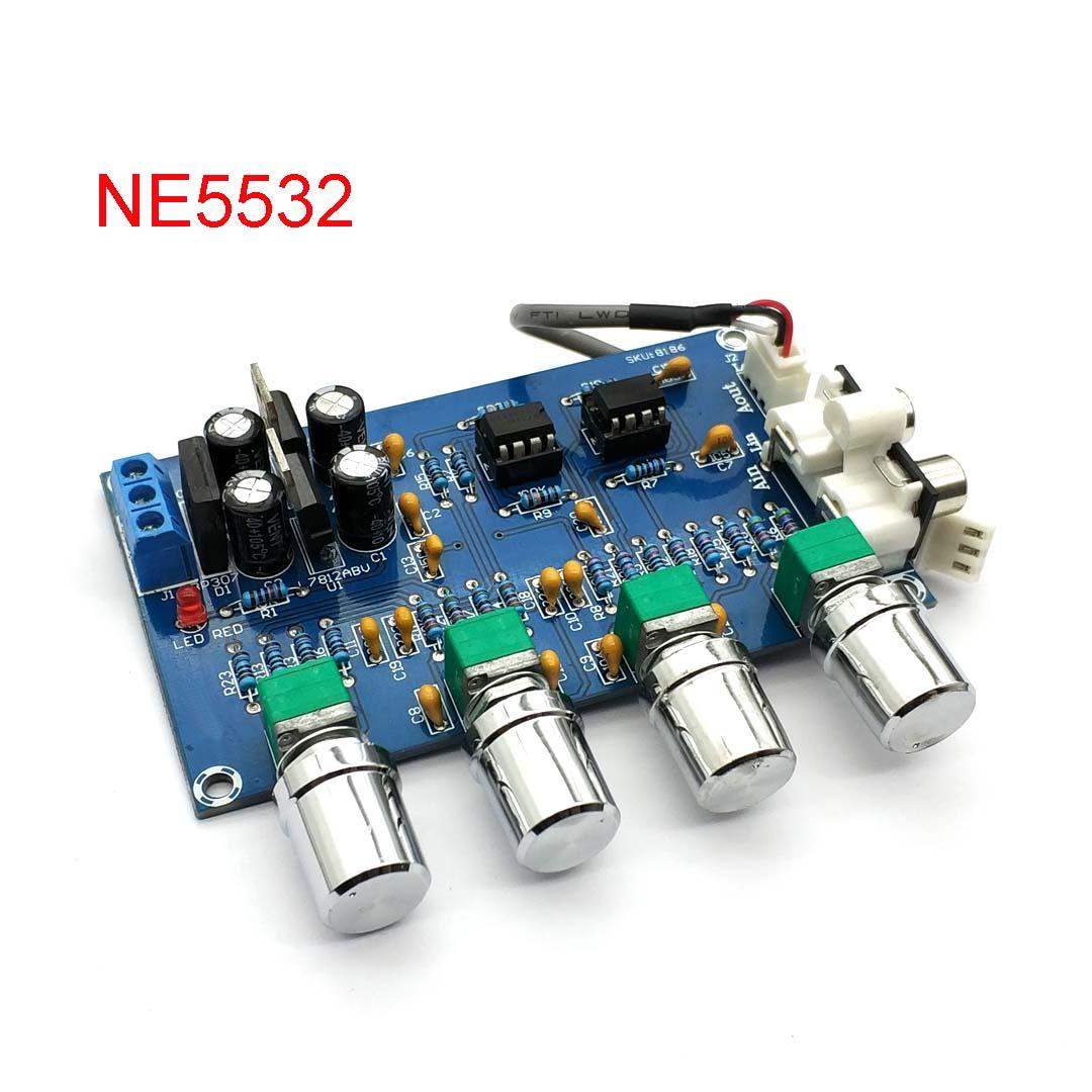 NE5532 стерео предварительно усилитель предусилитель тональная плата аудио 4 усилитель каналов модуль 4CH CH Управление цепи телефон предусилитель