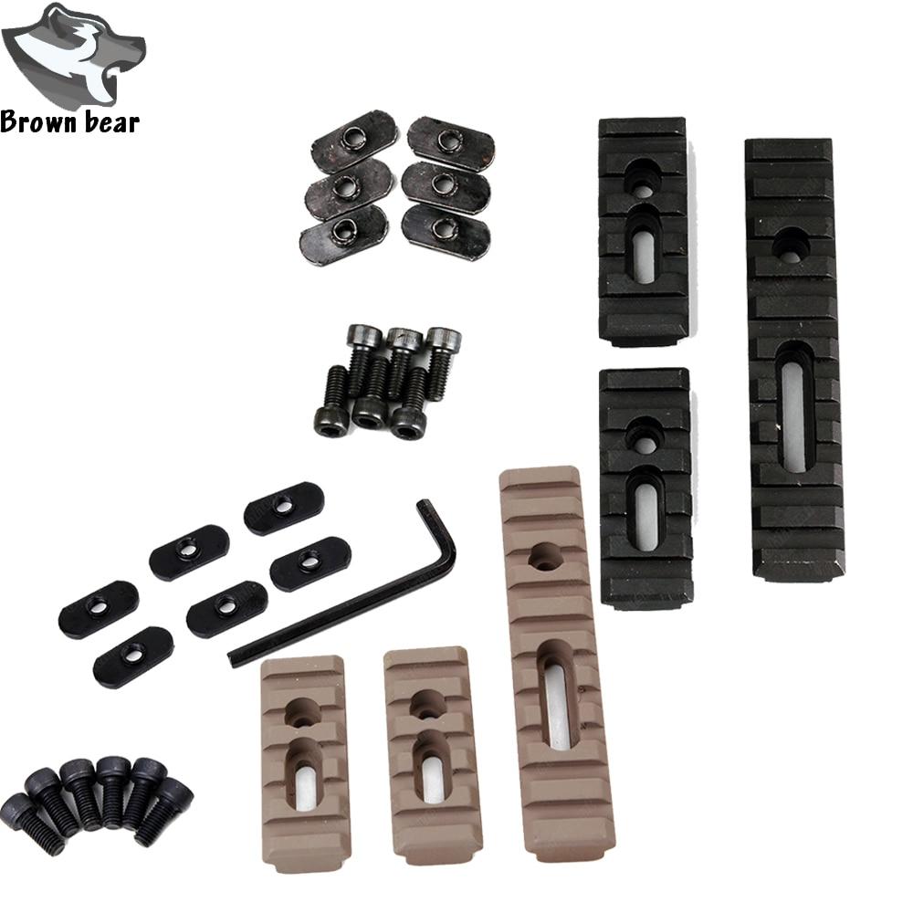 3 uds táctico Moe Keymod montaje riel Picatinny conjunto para pistola de aire de Airsoft guardamanos AR 15 Rifle accesorio