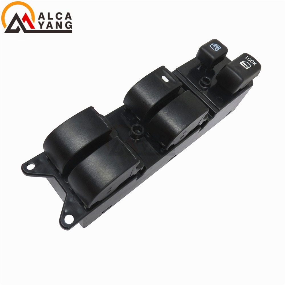 Interruptor negro para ventana de coche MR587943/WSMT010 17,4x4,4x6,1 cm apto para Mitsubishi Galant Endeavor Lancer Montero