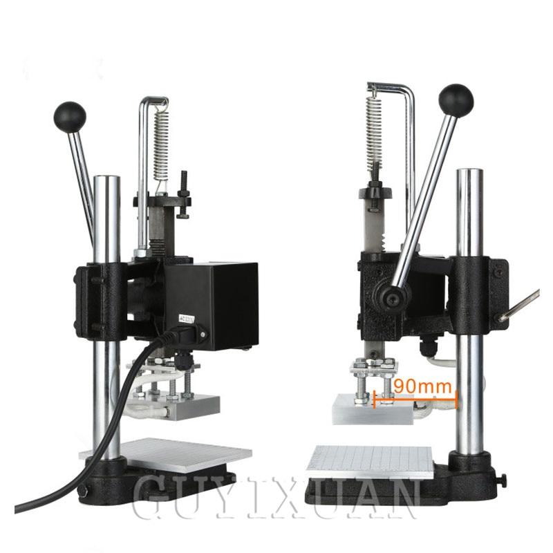Multi-function Digital Display Hot Stamping Machine Leather Hot Stamping Machine Wallet Pressure Label Trademark Brand Hot Stamp
