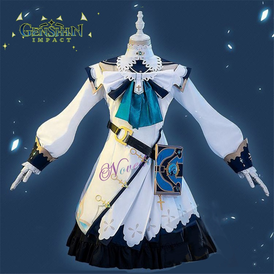 game genshin impact albedo cosplay costume carnival halloween performance outfit props men suit genshin impact costumes Genshin Impact Cosplay Barbara Costume Halloween Party Anime Game Genshin Impact Barbara Cosplay Dress Outfit