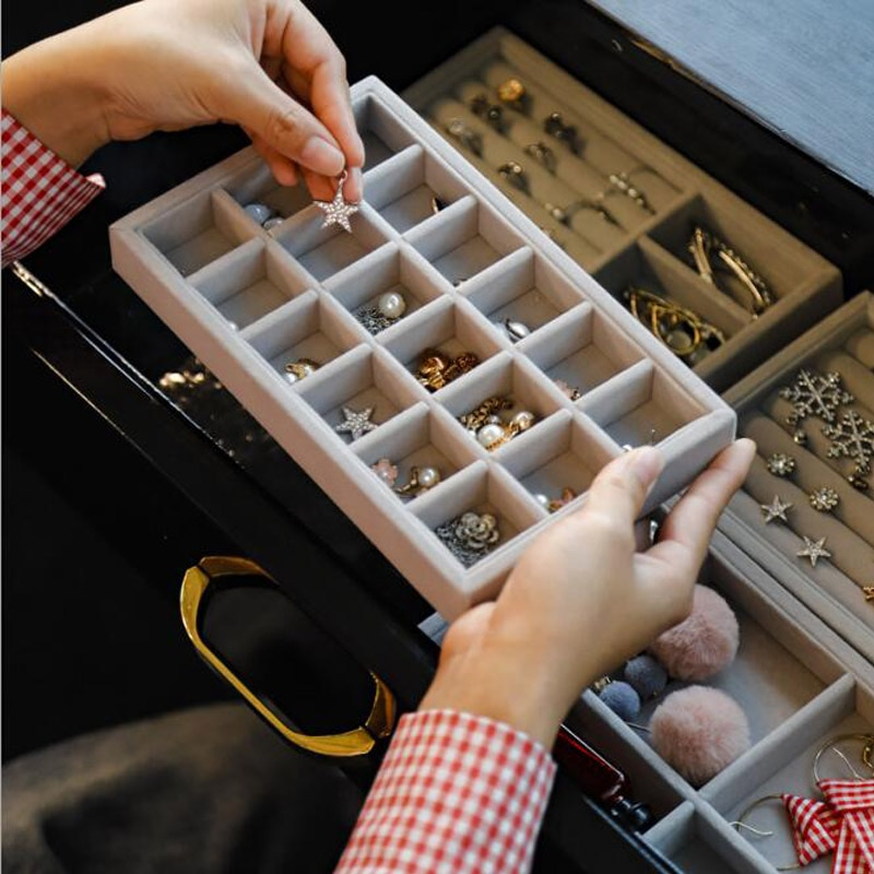 Новое поступление, ящик-органайзер для ювелирных изделий, Подарочная коробка для ювелирных изделий, упаковочная коробка, держатель для сер...
