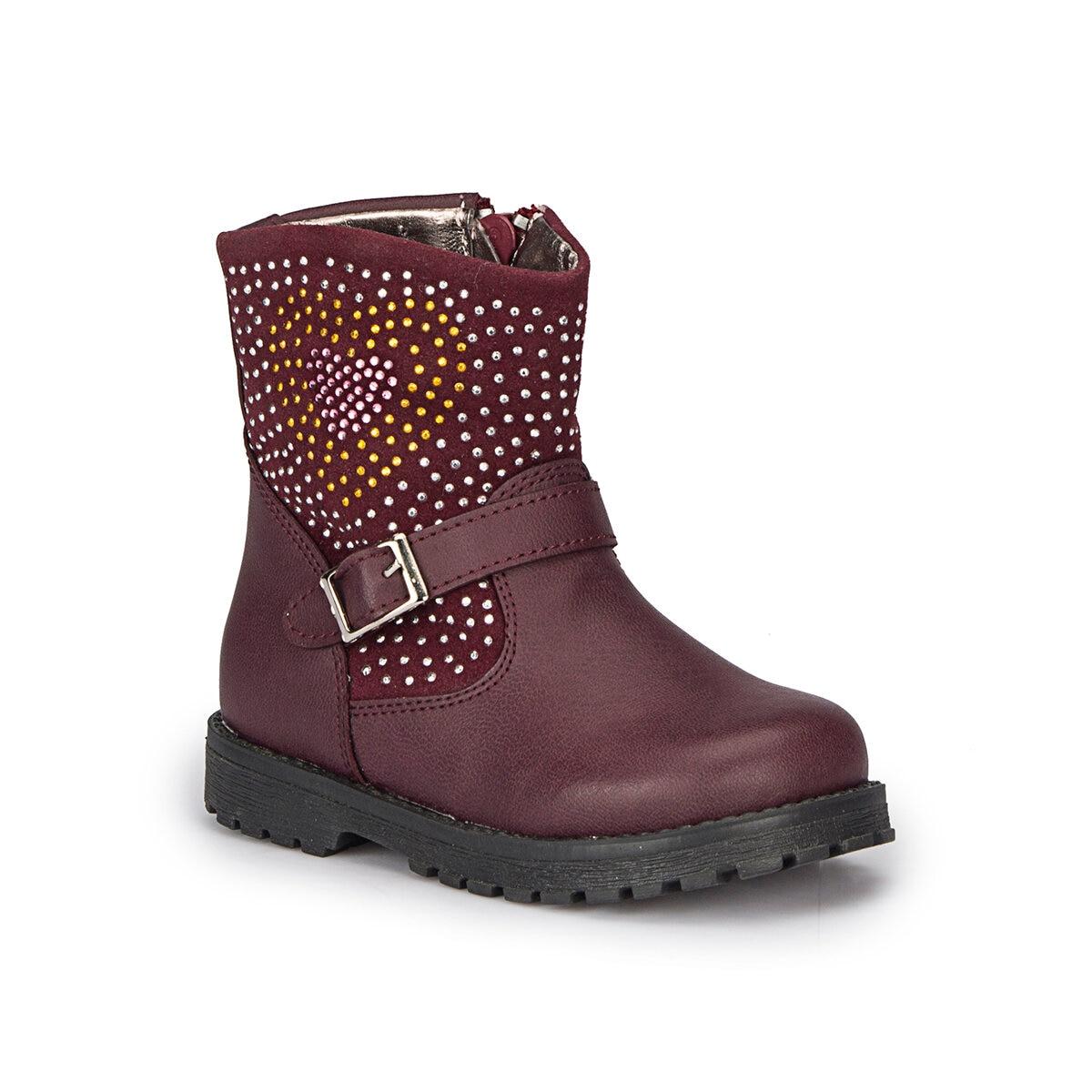 فلو ROZY-2 عنابي طفلة الأحذية PINKSTEP