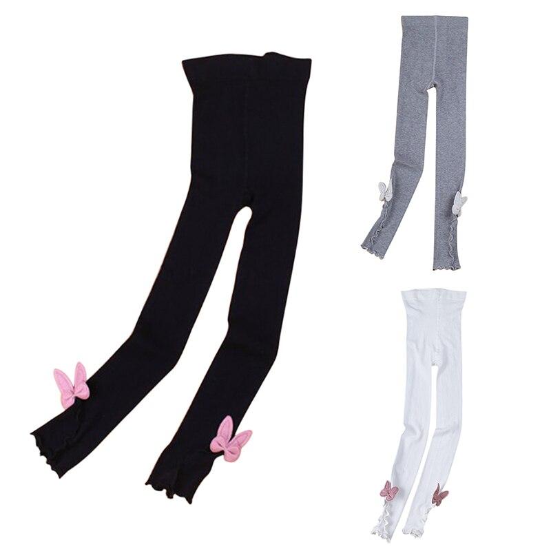 Pantalones Leggings elásticos para niñas pantalones de Color caramelo para niños pequeños