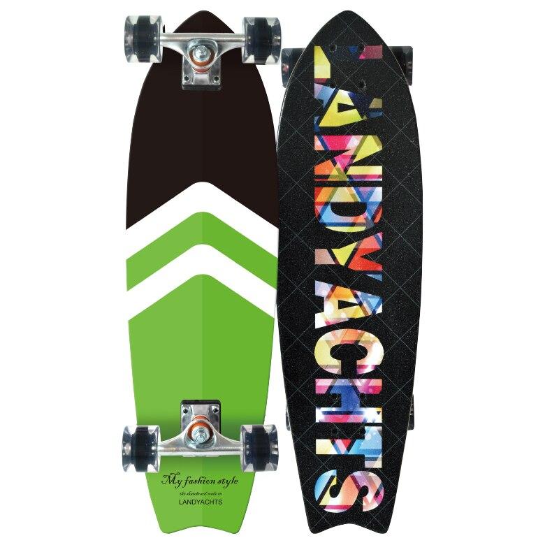 Professional Maple Skateboard 4 Wheel Longboard Drift Skate Skateboard Accessories Scooter Patineta Entertainment BY50HB