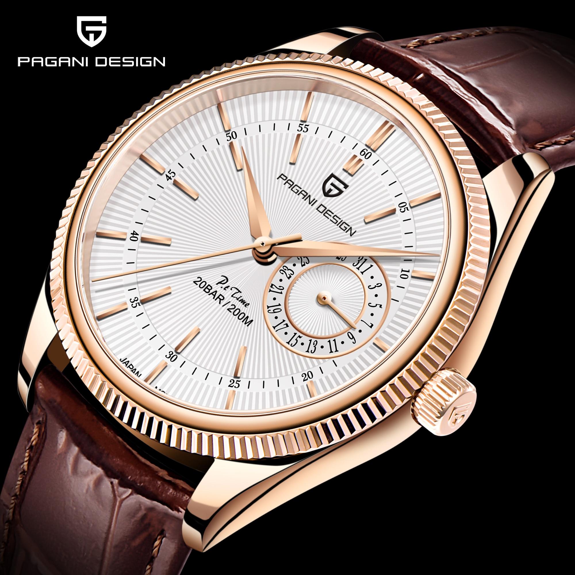 Pagani Design Top Brand New 2021 Mechanical Second Quartz Watch Luxury Sapphire 200m Waterproof Men's Clock