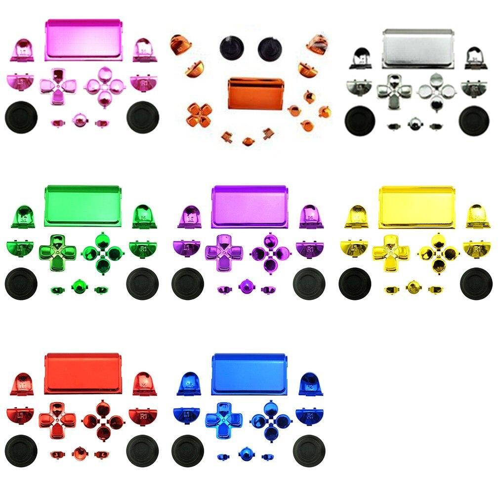 Data Frog Chrome negro botones del controlador inalámbrico Dpad R1/L1/R2/L2 botones para Sony PS4 Dualshock 4 Envío Gratis