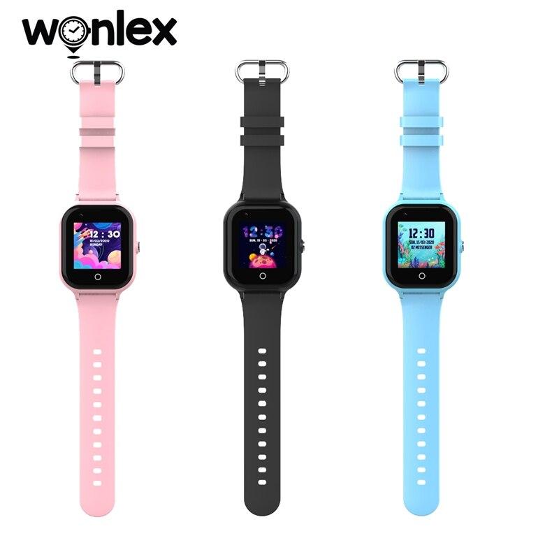 Chamada de Vídeo Wonlex Smart-ver Bebê Anti-perdido Rastreador Crianças Câmera Telefone Smartveres 4g Kt24 Wifi Posição Anti-lost Relógios Sos
