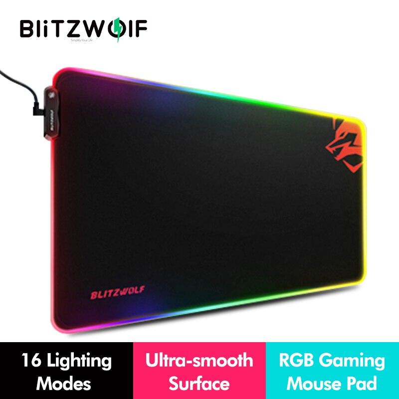 BlitzWolf BW-MP1 RGB الألعاب ماوس الوسادة كبير لوحة المفاتيح ل وحة PC سطح المكتب الجدول واقية حصيرة للمنزل مكتب ماوس منصات