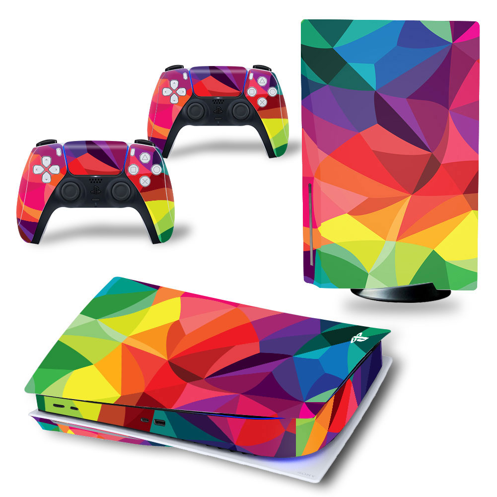 New Skin Sticker for PS5 Standard Disc Edition Decal Cover for PlayStation 5 Console & Controller PS5 Skin Sticker