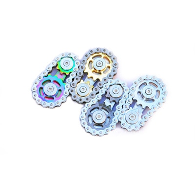 Yooap Sprockets Flywheel Fingertip Gyro Sprockets Chains EDC Metal Toy Gear Chain Gyro Drop Ship Sproket Roadbike Fidget Spinner enlarge