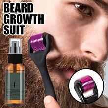 30ml Beard Growth Roller Set Beard Growth Kit Men's Beard Growth Essence Nourishing Enhancer Beard O