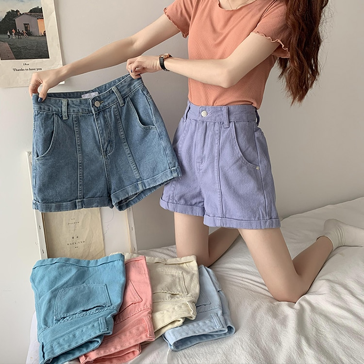 Cheap 2021 spring summer autumn new fashion casual cute sexy women shorts outerwear woman female OL Fy2067  - buy with discount