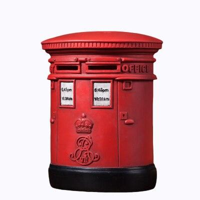 Postbox británico, alcancía para adultos, caja de depósito de resina, Banco de ahorro de dinero para niños, caja fuerte de banco, banco de depósito automático, billete 50A019