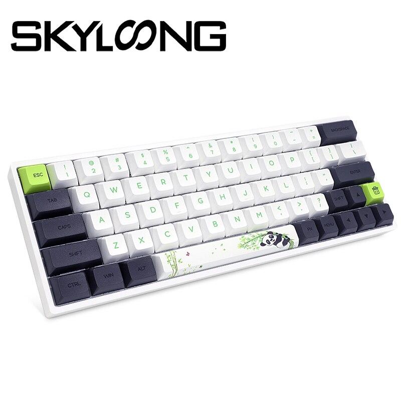 Skyloong SK64 الباندا الميكانيكية Teclado لوحة المفاتيح التبديل ألعاب فتاة Gateron aксесарللنساء أجهزة الكمبيوتر ل Ios/ويندوز/سطح المكتب