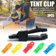 Pince de Camping en plastique   Ensemble de 3 pièces/ensemble de tentes, pinces de Camping en plein air, Clips de serrage en plastique, TSH Shop