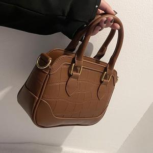 Crocodile pattern Square Tote bag 2021 Spring New Quality PU Leather Women's Designer Handbag Vintage Shoulder Messenger Bag