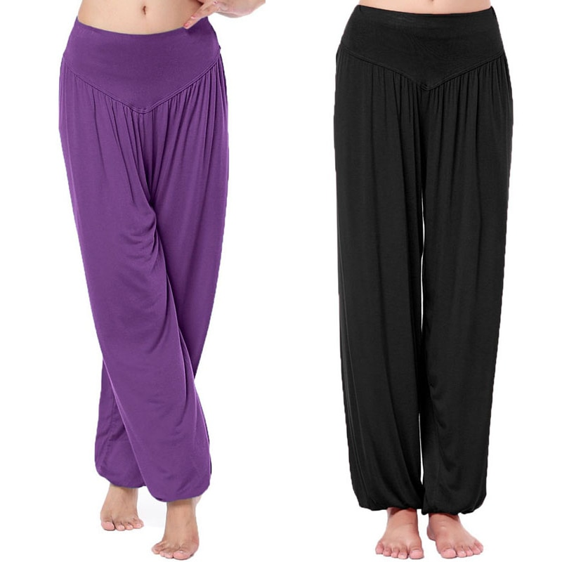 Горячая Распродажа, женские длинные штаны, шаровары, Youga, Модальные танцевальные брюки, широкая одежда для танца живота, комфортная одежда б...