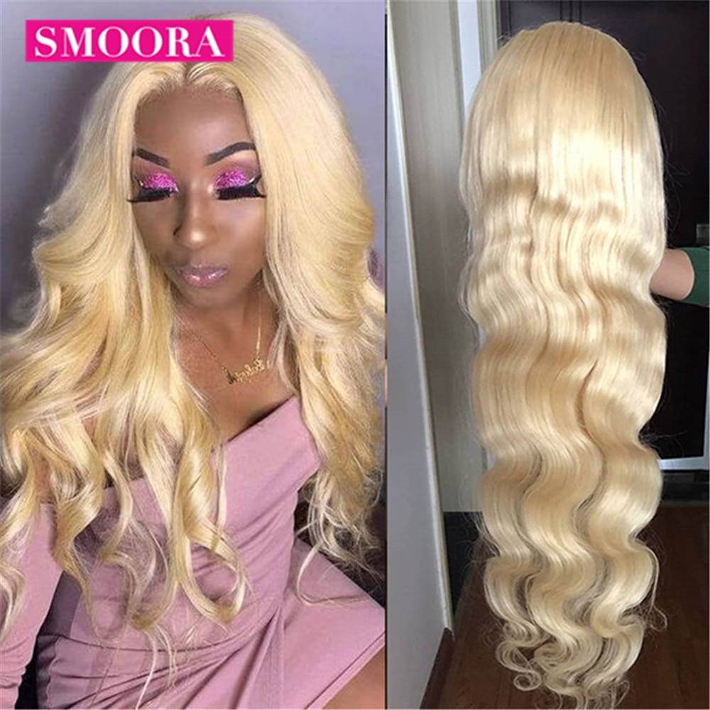 613 Human Hair Lace Frontal Wigs Brazilian Bodywave 613 Blonde Lace Front Wig 30 inch Pre Plucked Gl