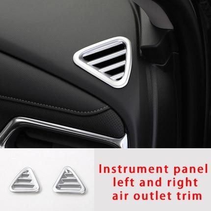 Voor Chevrolet Equinox 2017-2020 Instrument Panel Links En Rechts Air Outlet Chrome Molding Trim