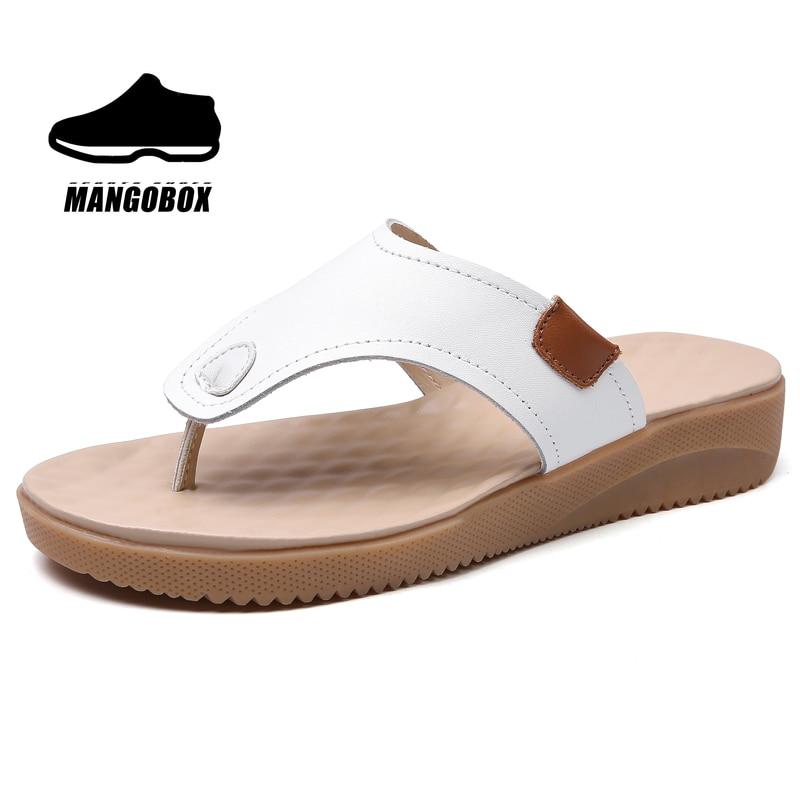 جديد وصول الصنادل الرياضية النساء الأبيض البيج سيدة في الهواء الطلق الشاطئ أحذية رياضية الصيف امرأة خف جلدي ماركة الإناث أحذية مشي