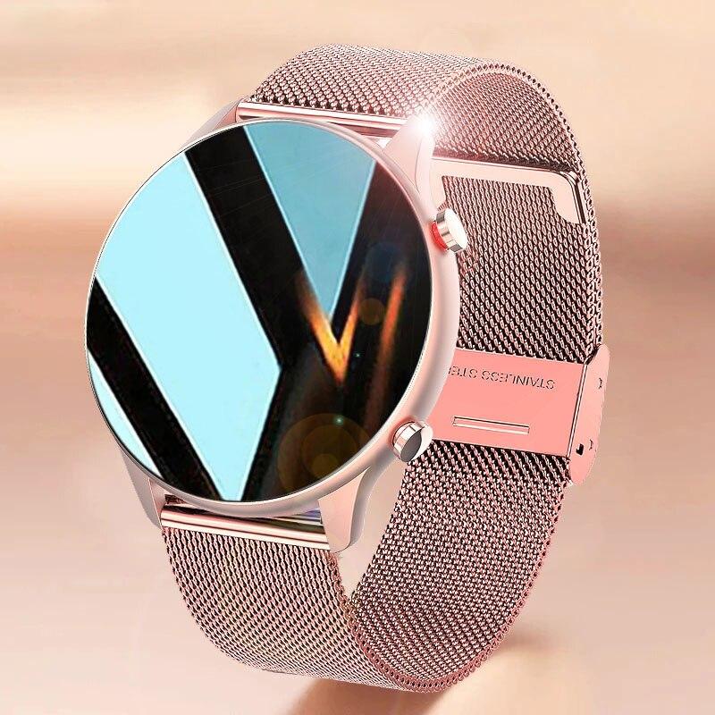 2021 جديد ECG PPG ساعة ذكية مع إجراء المكالمات وجه مخصص الرجال النساء Smartwatch مراقبة ضغط الدم لنظام أندرويد سامسونج أبل