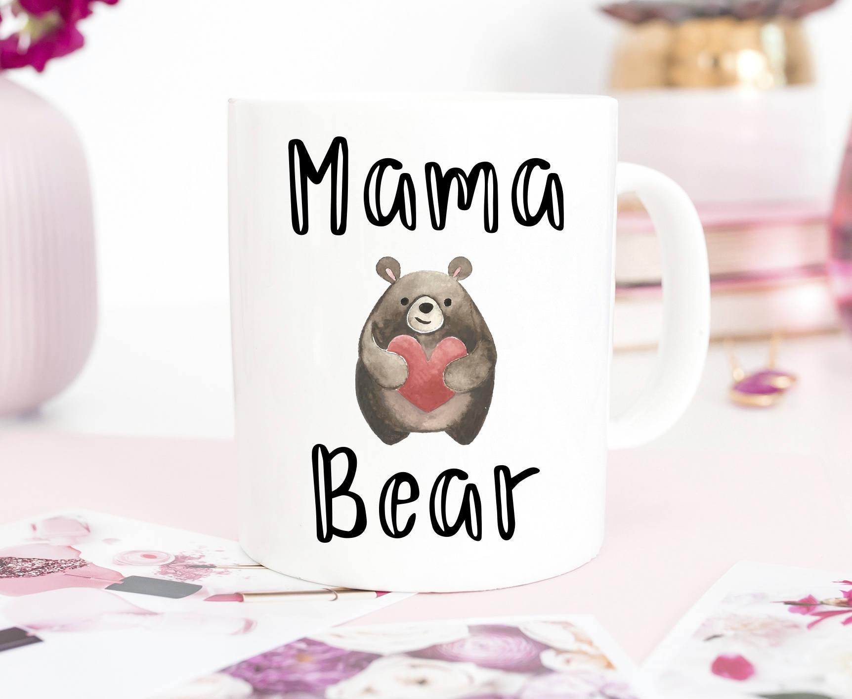 Mama bear mug mother's day ceramic creative coffee mug, best mom mug, cute mug, mommy mug custom mom mug