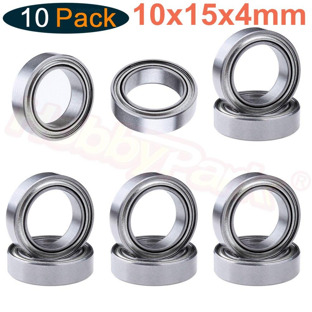 10 rolamentos de esferas 10x15x4mm dos pces para as peças sobresselentes do carro do modelo de hpi rs4