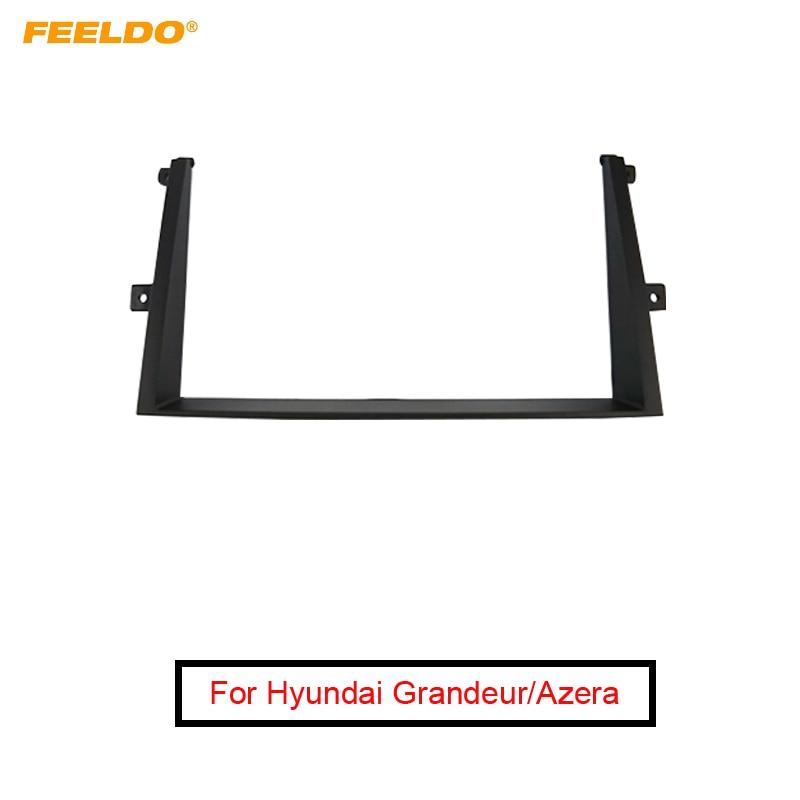 FEELDO, adaptador de marco de Fascia estéreo 2Din para coche, para Hyundai Grandeur, Azera, marco de Panel, Kit de instalación, embellecedor # FD5064