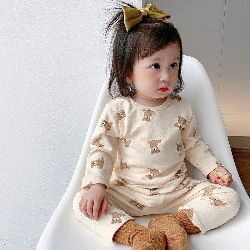 Детская домашняя одежда с принтом; Осенняя одежда для малышей + брюки; Комплект из двух предметов; Детская домашняя одежда; Детская одежда дл...