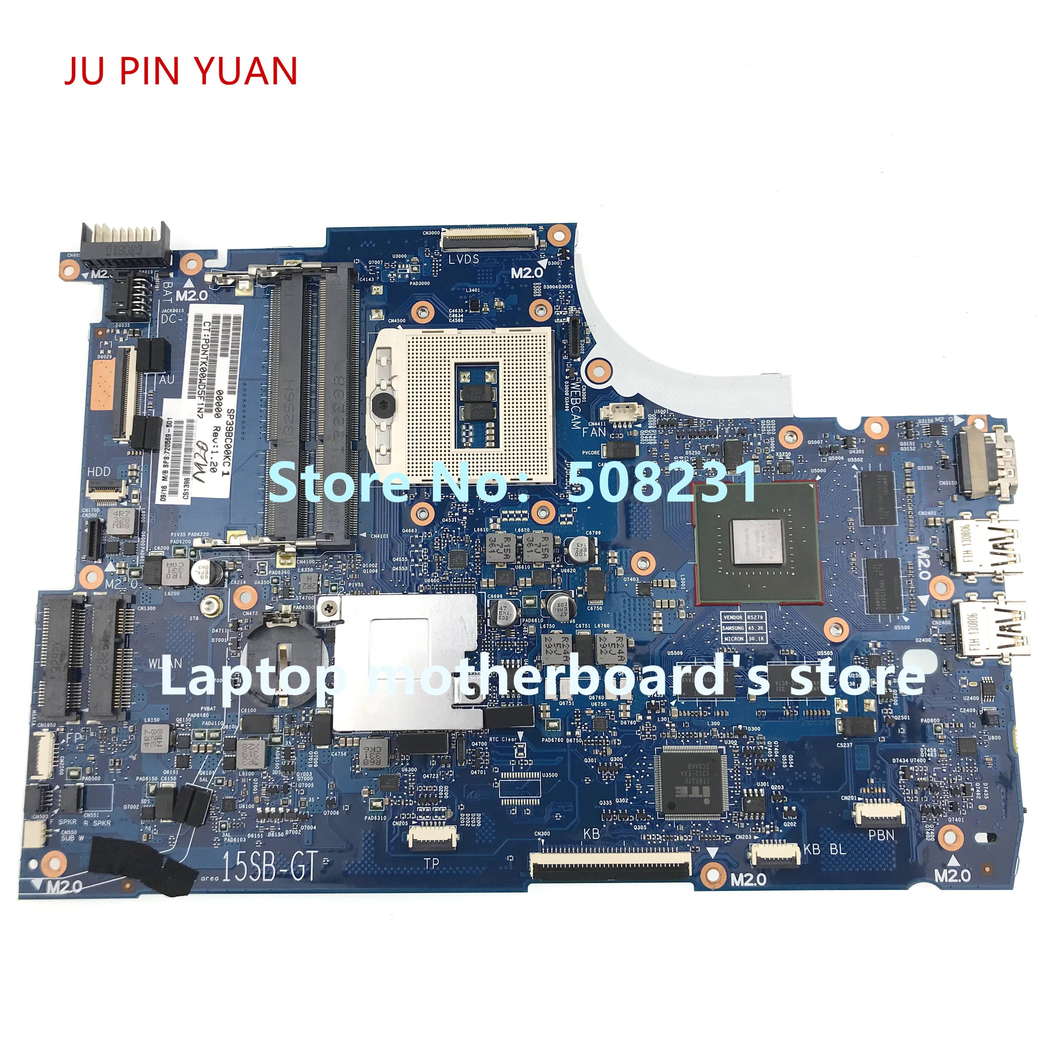 720569-501 720569-001 اللوحة الأم ل HP ENVY15-J 15-j اللوحة المحمول HM87 750M/2G 100% اختبار بالكامل