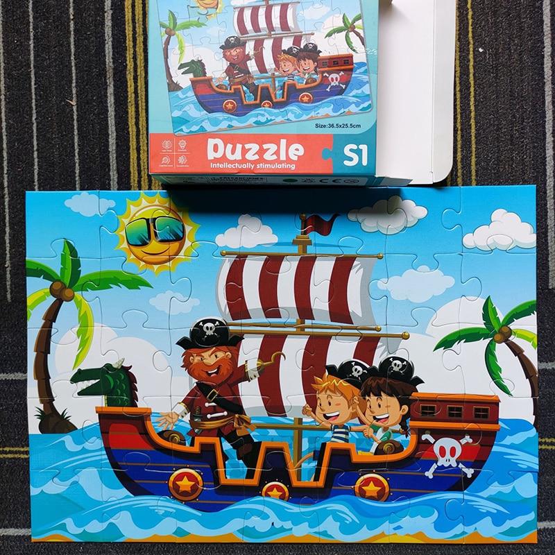 Новые 35 шт. игрушки головоломки мультфильм животных автомобиля для детей раннего обучения Детские развивающие игрушки для детей головолом...