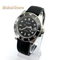 40mm man's luxury mechanical watch BLIGER black dial cermaic bezel sapphire glass luminous automatic mens watches 2881-5