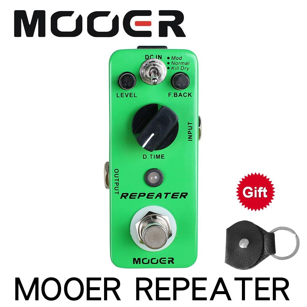 MOOER MDL1 Repeater Digital Delay Pedal 3 Arbeits Modi Mod/Normal/Töten Trockenen Gitarre effekt pedal
