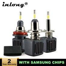 H7 H1 Ampoule Led Avec la Puce de Samsung H11 Led Voiture Phare D2S D4S H4 H8 9005 HB3 9006 HB4 D1S Voiture Led Lampe 10000LM 6500K Dantibrouillard