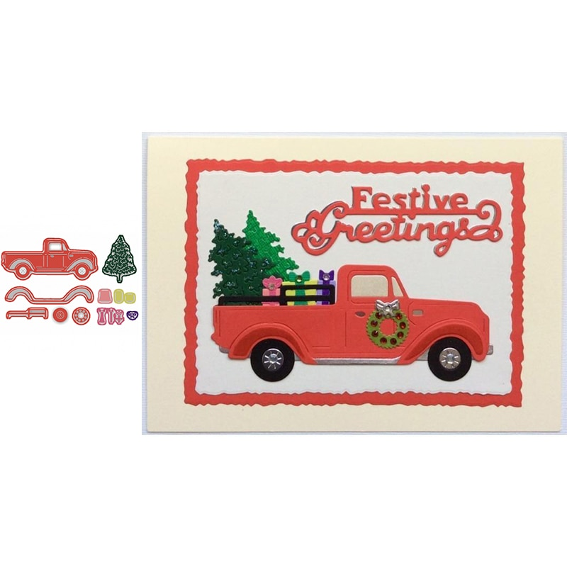 Drive Christmas Tree Home Metal Cutting Dies New 2020 and Car Decorative Embossing Papercard Crafts Die
