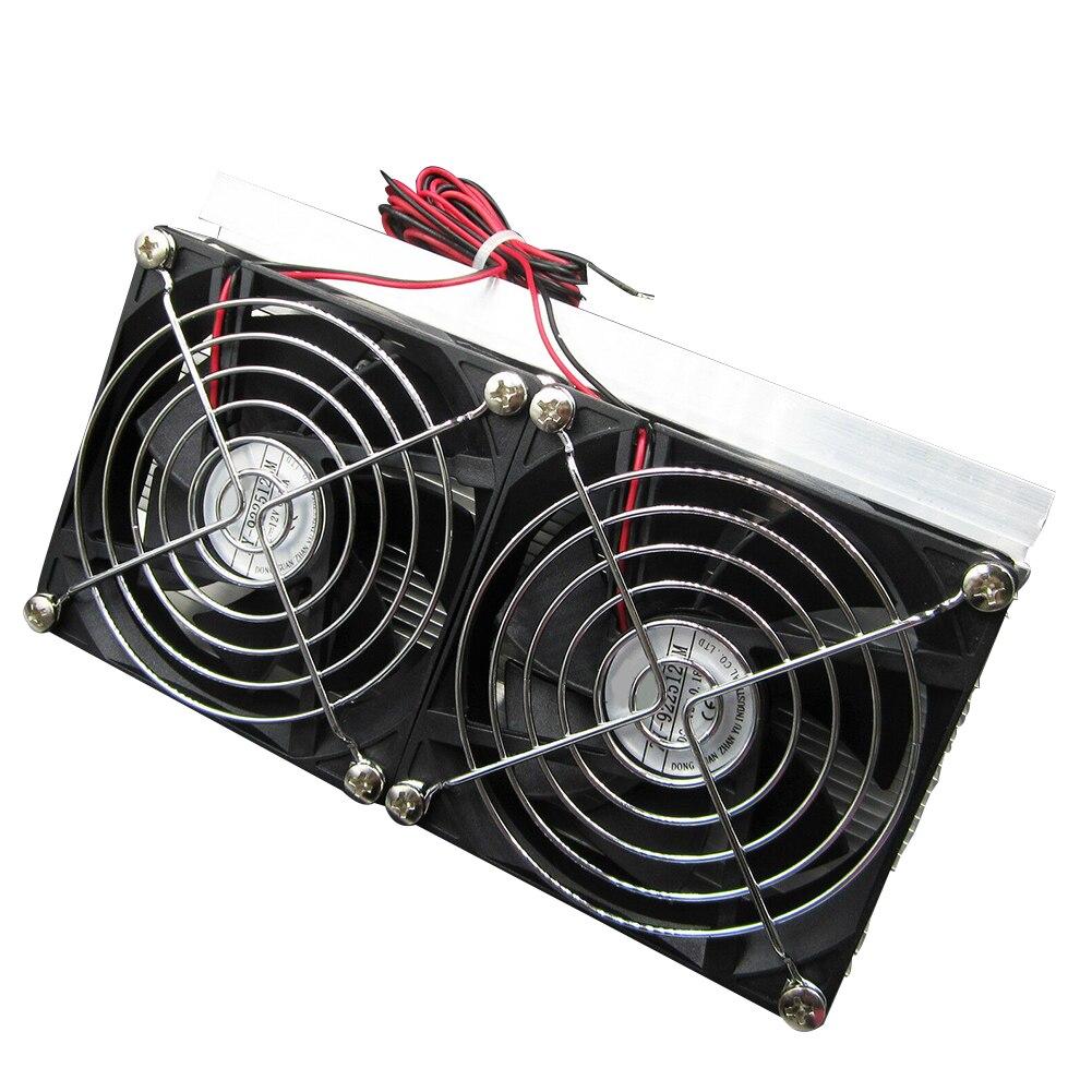 Indústria peltier refrigeração semicondutor sistema de refrigeração kit duplo ventilador casa circuito integrado diy metal termoelétrico