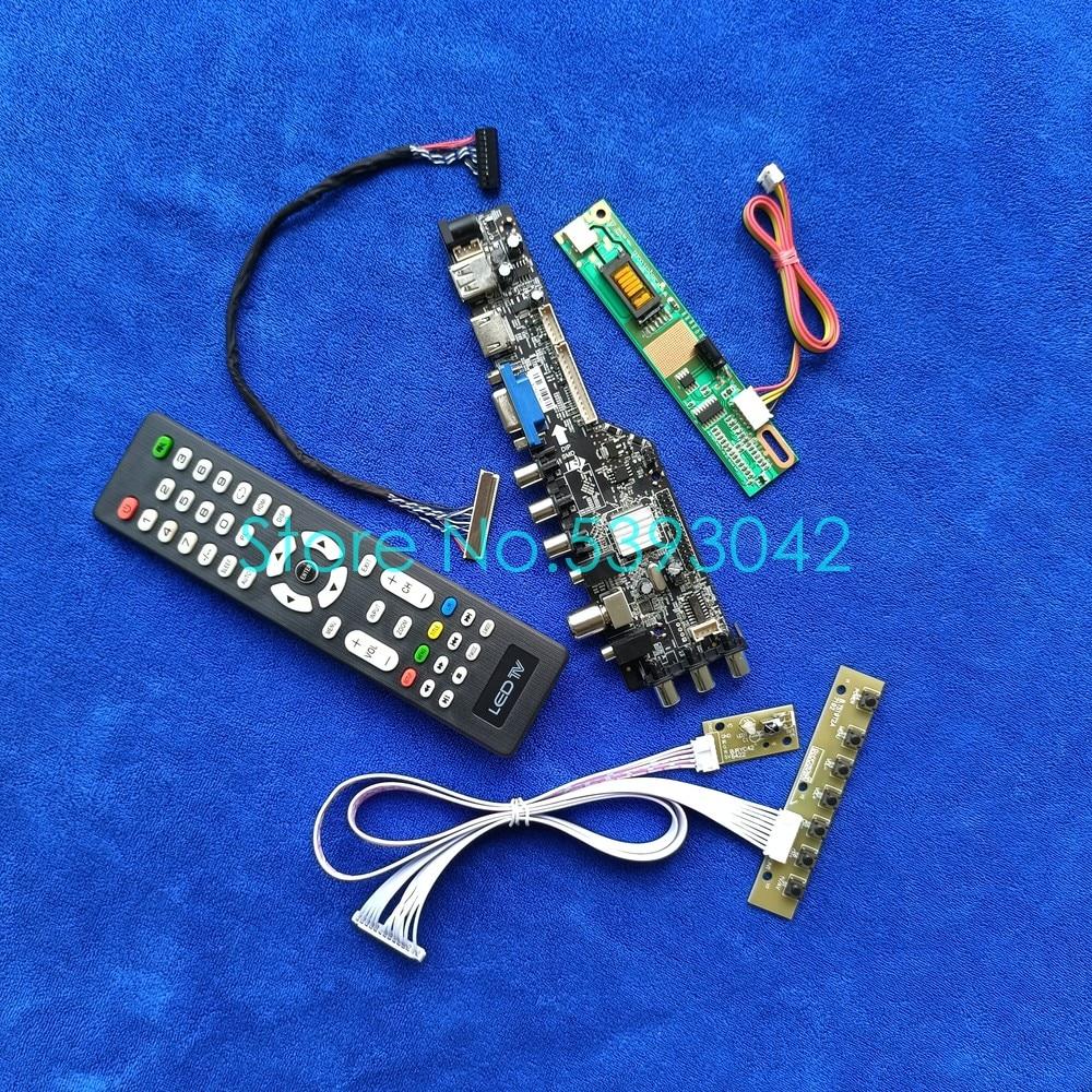 LCD لوحة تحكم عدة DVB إشارة رقمية USB + VGA 1CCFL ل LTN141P2/LTN141P4/QD15FL02/QD14FL02 مصفوفة 1400*1050 LVDS 30-Pin