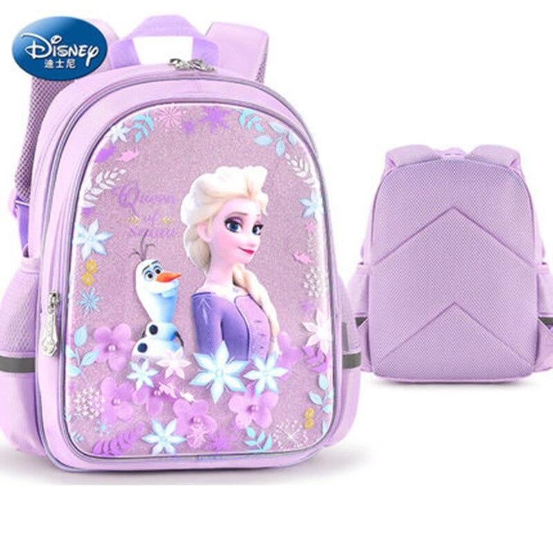 حقيبة ظهر مدرسية ثلاثية الأبعاد من فروزن إلسا وآنا ، حقيبة ظهر مدرسية برسومات صوفيا للفتيات من سن 4 إلى 14 سنة