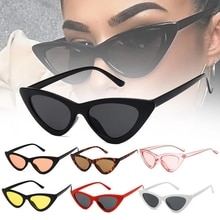 1pc Riding Glasses Fishing Glasses Retro Vintage Sunglasses Vintage Cateye Goggles Sexy Small Cat Ey