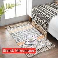 mmunique waved carpet door mat area rugs floor slipcover decoration for living room printed pattern braided 100 cotton pad