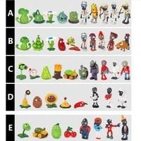 10pcsbag puppets 5pcs zombie animal 5pcs plant weapon confrontation game kids childrens model toys universal creative diy