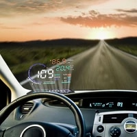 hud head up display car styling overspeed warning windshield projector alarm system universal auto