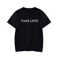 تي شيرت الحب المزيف من kpop موضة 2019 قميص love yourself bangtan تي شيرت الحب المزيف للسيدات harajuku kpop Poc