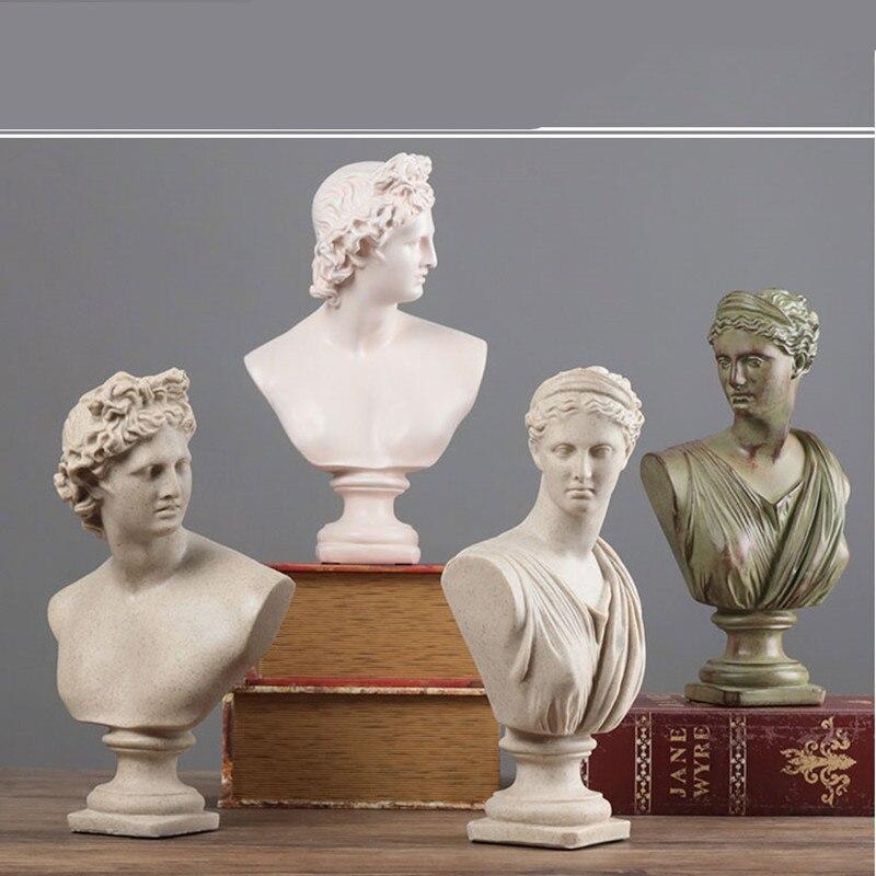 Estatua artística David Apollo Thinker Anna Diosa Venus mitología romana figura Afrodita artesanía de resina decoración del hogar R1429 Europa